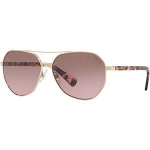 Ralph Ra4123 Women's Aviator Sunglasses, Gold/rose Gradient Womens Accessories