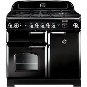 Rangemaster Classic 100 Gas Range Cooker, Black