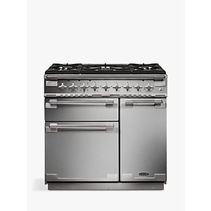 Rangemaster Elise 90 Dual Fuel Range Cooker, Stainless Steel/Chrome Trim