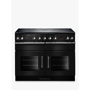 Rangemaster Esp110ei Double Electric Range Cooker, 110cm Wide, A Energy Rating, Black, Black