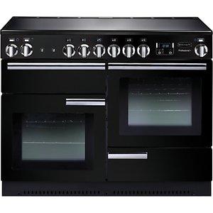 Rangemaster Professional + 110 Electric Range Cooker, Gloss Black