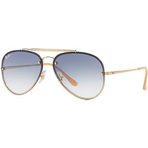 Ray-ban Rb3584n Blaze Aviator Sunglasses, Gold/blue Gradient Womens Accessories