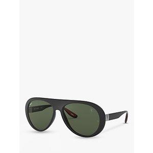 Ray-ban Rb4310m Women's Scuderia Ferrari Collection Aviator Sunglasses Womens Accessories, Matte Black/Green