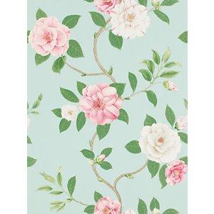 Sanderson Christabel Wallpaper, Pink/Sky, DVOY213378