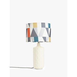Scion Nuevo Tall Ceramic Table Lamp, Pimento/white