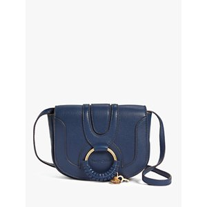 See By Chloé Mini Hana Leather Satchel Bag Womens Accessories, Classic Navy