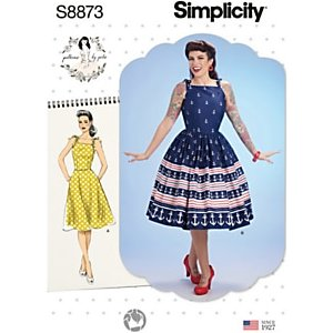 Simplicity Womens' Fit And Flare Dress Sewing Pattern, 8873
