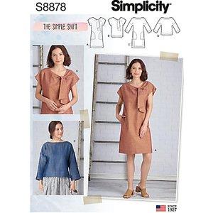 Simplicity Women's Simple Shift Dress, 8878