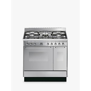 Smeg Cc92mx9 90cm Dual Fuel Range Cooker, A Energy Rating, Stainless Steel
