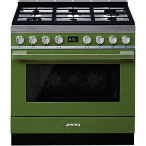 Smeg Portofino Cpf9g Dual Fuel Range Cooker, A+ Energy Rating,, Olive Green