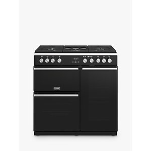 Stoves Precision Deluxe S900g Gas Range Cooker, A/a Energy Rating, Stainless Steel, Black