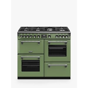 Stoves Richmond Deluxe S1000g 100cm Gas Range Cooker, A+/a Energy Rating,, Soho Green