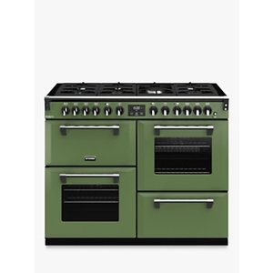Stoves Richmond Deluxe S1100df Dual Fuel Range Cooker With Zeus Bluetooth Connected Timer, Soho Green