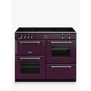 Stoves Richmond Deluxe S1100ei Induction Range Cooker With Zeus Bluetooth Connected Timer, Hot Jalap Purple, Wild Berry