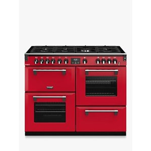 Stoves Richmond Deluxe S1100g Gas Range Cooker With Zeus Bluetooth Connected Timer, Anthracite Red, Hot Jalapeno