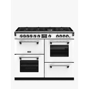 Stoves Richmond Deluxe S1100g Gas Range Cooker With Zeus Bluetooth Connected Timer, Anthracite White, Icy Brook
