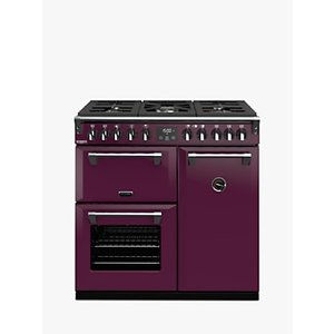 Stoves Richmond Deluxe S900df Dual Fuel Range Cooker With Zeus Bluetooth Connected Timer, Wild Berry