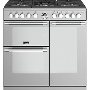 Stoves Sterling Deluxe S900df Dual Fuel Range Cooker, A Energy Rating, Silver