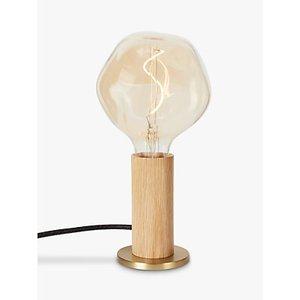Tala Knuckle Table Lamp With Led Voronoi I 2w Led Es Bulb, Oak