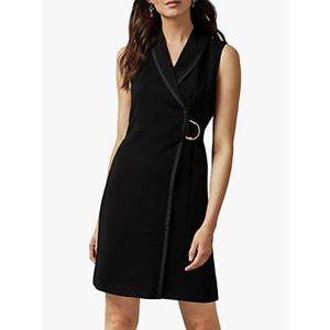 Ted Baker Adaard Tuxedo Mini Dress, Black