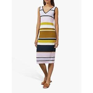 Ted Baker Izlie Maple Swirl V-neck Knitted Dress, Dusky Pink