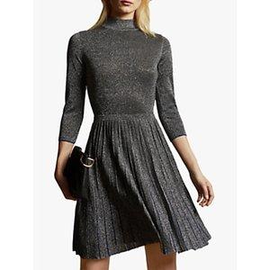 Ted Baker Noaleen High Neck Mini Knitted Dress, Gunmetal