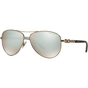 Tiffany & Co Tf3049b Aviator Sunglasses, Gold/silver Womens Accessories