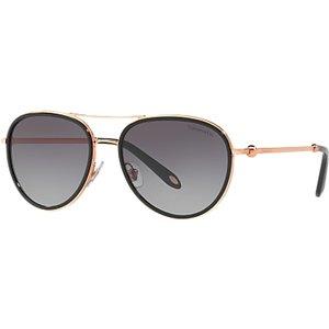 Tiffany & Co Tf3059 Women's Aviator Sunglasses, Rose Gold/grey Gradient Womens Accessories
