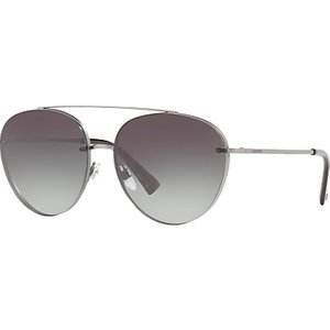 Valentino Va2009 Aviator Sunglasses, Silver/grey Gradient Womens Accessories