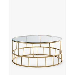 West Elm Deco Lattice Coffee Table, Brass