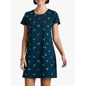 Yumi Bee Print Tunic Dress, Green