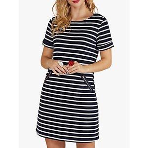 Yumi Nautical Stripes Tunic Dress, Navy