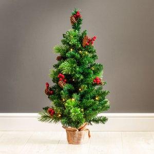 3ft Robert Dyas Richmond Pre-lit Christmas Tree