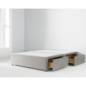 4ft Two Drawer Side Access Divan Bed Base Grey 4ft2drsdegry