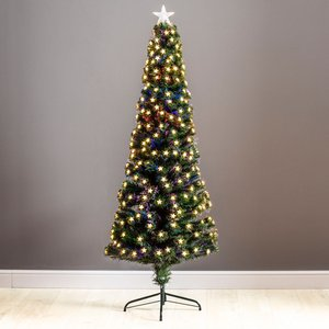 6ft Robert Dyas Grosvenor Fibre Optic Pencil Christmas Tree