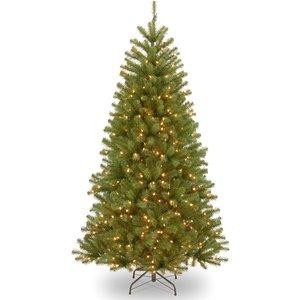 7.5ft National Tree Company Elmore Spruce Christmas Tree With 550 Soft White Leds