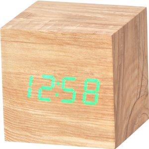 Acctim 'ark' Cube Led Alarm Clock - Ashwood 16061