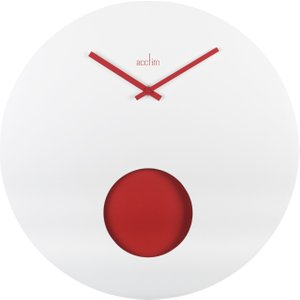 Acctim Colusa 50cm White Pendulum Wall Clock  5012562282522