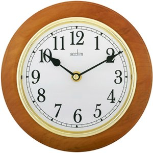 Acctim Maine 205mm Wooden Wall Clock  5012562241703
