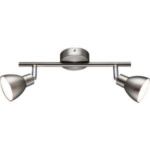 Action Lester Pendant Bar/spot Light - Nickel Matt Finished/chrome With 2 X Led Bulbs L6978 4003474300139