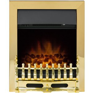 Adam Blenheim Electric Fire In Brass 10297