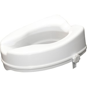 Aidapt 4 Inch Raised Toilet Seat No Lid - White A5512