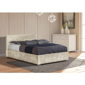 Albie Ottoman Single Storage Bed - Cream
