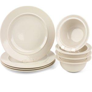 Alessi La Bella Travola Porcelain Dinner Plate And Bowl Set - 8 Piece  5054061265378