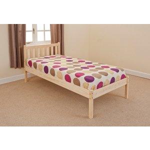 Aloja Single Bed Frame - Caramel