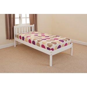 Aloja Single Bed Frame - White  5057289856960