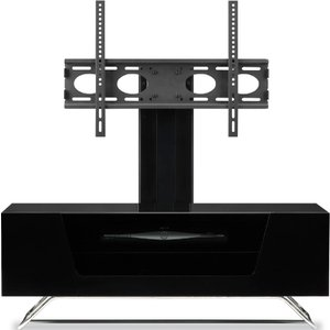 Alphason Chromium 2 1000 + Bracket Tv Stand - Black Cro2 1000bkt Bk 5030752016528