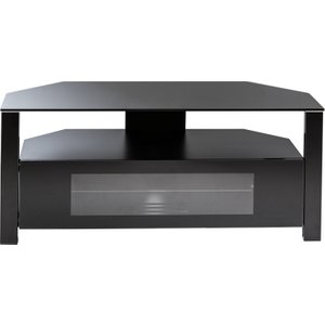 Alphason D-shaped Ambri 1100 Tv Stand - Black Abrd1100 Blk 5030752005294