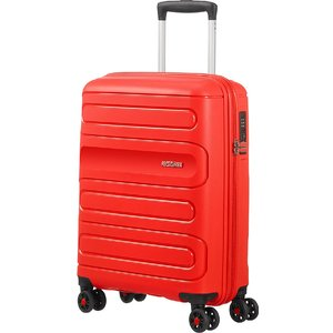 American Tourister Sunside Spinner Suitcase 55cm/35l - Sunset Red 107526 0409