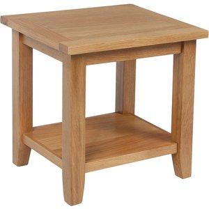 Ametis Croft Oak Lamp Table With Shelf Kin 04